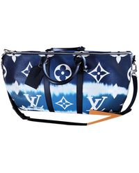 Louis Vuitton Sac 48h Keepall en toile - Bleu