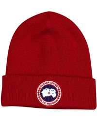 Canada Goose Red Cotton Hats