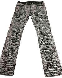 Roberto Cavalli - Black Cotton Jeans - Lyst