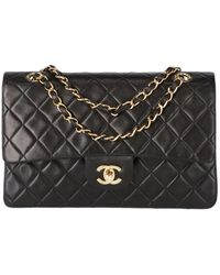 Chanel Vintage Timeless/classique Black Leather Handbag