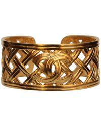 Chanel - Pre-owned Gold Metal Bracelet - Lyst