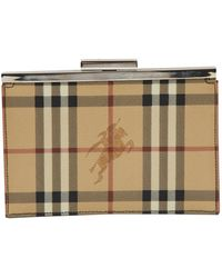 Burberry Leather Clutch Bag - Natural