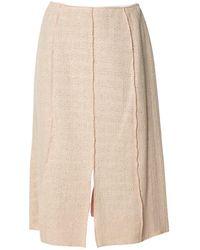 Chanel Tweed Kostüm - Natur