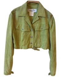 Dior Vintage Green Suede Leather Jacket