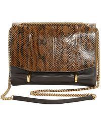 Nina Ricci Brown Leather Clutch Bag