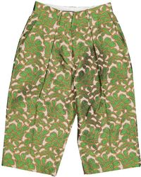 Sonia by Sonia Rykiel - Green Cotton Trousers - Lyst