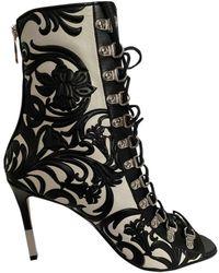 Balmain Leather Boots - Black