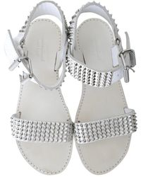 Zadig & Voltaire Leather Sandals - White