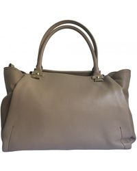 Lanvin Leather Handbag - Natural