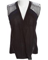 Anthony Vaccarello Camisa en sintético negro
