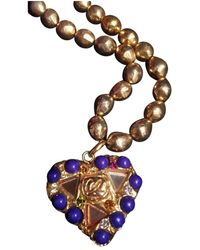 Christian Lacroix \n Gold Gold Plated Long Necklaces - Multicolor