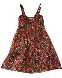 Burberry - Silk Mid-length Dress - Lyst