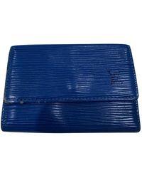 Louis Vuitton Leder Kleinlederwaren - Blau