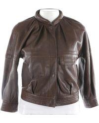 Proenza Schouler \n Brown Leather Jacket