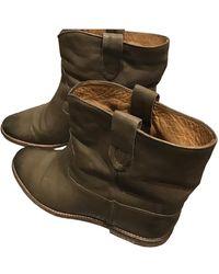 Isabel Marant Boots Crisi en Cuir Marron