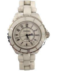 Chanel J12 Automatique Keramik Uhren - Weiß