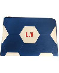 Louis Vuitton Sacs en Cuir Bleu
