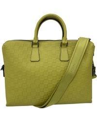 Louis Vuitton Borsa in pelle giallo Porte Documents Jour