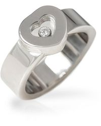 Chopard Anillo en oro blanco blanco Happy Diamonds