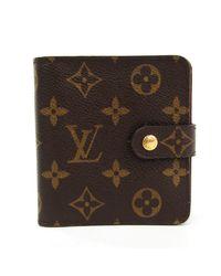 Louis Vuitton - Brown Cloth Wallet - Lyst