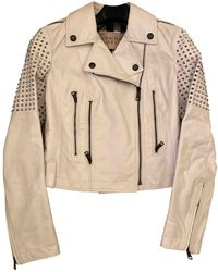 Burberry Leather Jacket - White