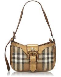 Burberry - Brown Cloth Handbag - Lyst
