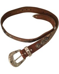 JOSEPH Brown Leather Belts