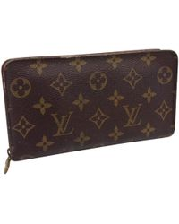 Louis Vuitton - Zippy Brown Cloth - Lyst