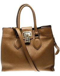 Roberto Cavalli \n Brown Leather Handbag