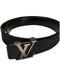 Louis Vuitton Cintura in pelle antracite Shape - Nero