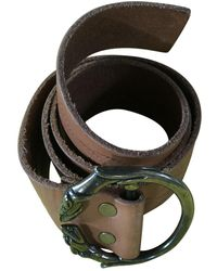 Zadig & Voltaire Brown Leather Belts - Green