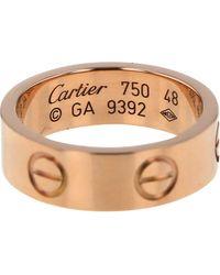 Cartier Anillo en oro rosa rosa Love