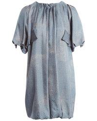 By Malene Birger Seide Midi Kleid - Blau