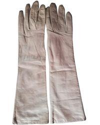 Dior Leder Lange handschuhe - Braun