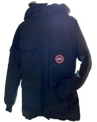 Canada Goose Black Polyester Coat Expedition - Multicolour