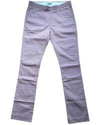 Acne Studios Pantalones en algodón rosa - Multicolor