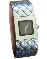 Chanel Reloj en acero plateado Matelassée - Multicolor