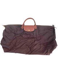 Longchamp Sac de voyage Pliage en Toile Marron