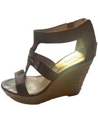 Michael Kors Leather Heels - Brown