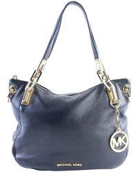 2703746ebe15 Lyst - Michael Kors Delfina Black Leather Saddle Bag in Black