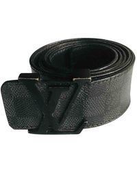 Louis Vuitton Cinturón en lona antracita - Negro
