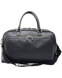 Louis Vuitton Leder Wochenende Tasche - Schwarz