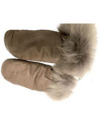 UGG Guanti a manopola in Pelle - Marrone