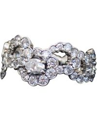 Dior Silver White Gold Ring - Metallic