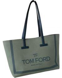Tom Ford Cabas de Lona - Verde
