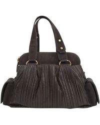 BVLGARI Brown Leather