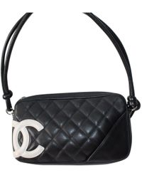 5194c1ba4196 Chanel - Pre-owned Cambon Black Leather Handbags - Lyst