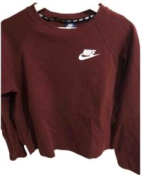 Nike Jersey en algodón burdeos - Multicolor