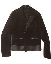 Ferragamo Black Leather Jacket