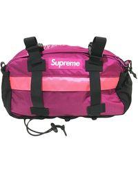 Supreme Leather Handbag - Pink